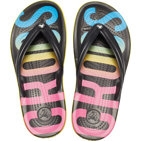 Crocs Crocband Printed Sandaler, black/multi